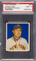 Baseball Cards:Singles (1940-1949), 1949 Bowman Johnny Mize (No Name) #85 PSA Mint 9....