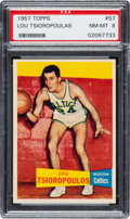 Basketball Cards:Singles (Pre-1970), 1957 Topps Lou Tsioropoulas #57 PSA NM-MT 8 - Two Higher. ...