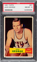 Basketball Cards:Singles (Pre-1970), 1957 Topps Jack George #67 PSA NM-MT 8 - None Higher! ...