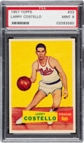 Basketball Cards:Singles (Pre-1970), 1957 Topps Larry Costello #33 PSA Mint 9 - Pop Five, None Higher! ...