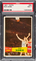 Basketball Cards:Singles (Pre-1970), 1957 Topps Ron Sobie #69 PSA NM 7....