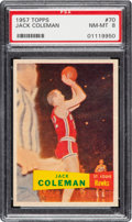 Basketball Cards:Singles (Pre-1970), 1957 Topps Jack Coleman #70 PSA NM-MT 8 - Only One Higher. ...