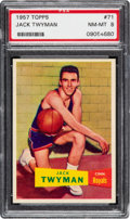 Basketball Cards:Singles (Pre-1970), 1957 Topps Jack Twyman #71 PSA NM-MT 8 - Three Higher. ...