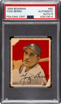 Autographs:Sports Cards, Signed 1949 Bowman Yogi Berra #60 PSA/DNA Auto 9. ...