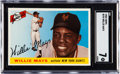 Baseball Cards:Singles (1950-1959), 1955 Topps Willie Mays #194 SGC NM 7....