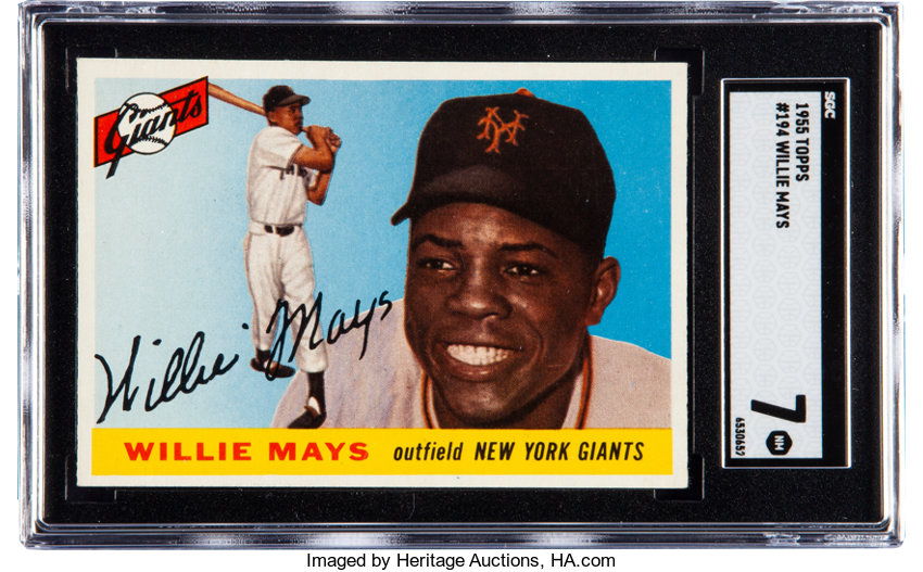 1955 Topps Willie Mays 194 Sgc Nm 7 Offered Is A 1955