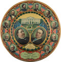 Political:Miscellaneous Political, Taft & Sherman: Colorful Lithographed Tin Wall Plaque....