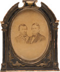 Political:Miscellaneous Political, Grant & Colfax: Large Albumen Jugate Photo in OriginalFrame....