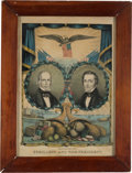 Political:Posters & Broadsides (pre-1896), Clay & Frelinghuysen: Jugate Grand National Banner by Kellogg & Hanmer....