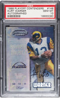 Autographs:Sports Cards, 1999 Playoff Contenders Autographed Kurt Warner #146 PSA Gem MT 10....