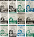 Baseball Cards:Sets, 1938 Goudey Big League Baseball Movies rare Complete Set (26) Plus Both Joe DiMaggio Variations. ...