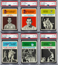Basketball Cards:Lots, 1961 Fleer Basketball PSA NM-MT 8 Graded Collection (7). ...