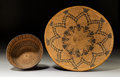 American Indian Art:Baskets, Two Apache Coiled Basketry Items... (Total: 2 Items)