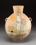 Pre-Columbian:Ceramics, A Large Chancay Painted Ceramic Urn...
