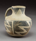 American Indian Art:Pottery, A Socorro Black-On-White Pitcher...