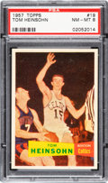 Basketball Cards:Singles (Pre-1970), 1957 Topps Tom Heinsohn #19 PSA NM-MT 8 - Only One Higher. ...