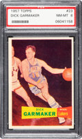 Basketball Cards:Singles (Pre-1970), 1957 Topps Dick Garmaker #23 PSA NM-MT 8 - None Higher! ...