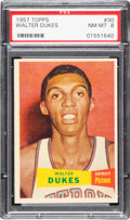 Basketball Cards:Singles (Pre-1970), 1957 Topps Walter Dukes #30 PSA NM-MT 8 - Only One Higher. ...