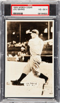 Baseball Cards:Singles (1930-1939), 1933 Worch Cigar Lou Gehrig PSA VG-EX 4....