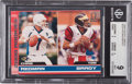 Football Cards:Singles (1970-Now), 2000 Pacific Omega Tom Brady/Chris Redman #238 BGS Mint 9 - Numbered 257/500. ...