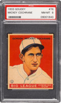 Baseball Cards:Singles (1930-1939), 1933 Goudey Mickey Cochrane #76 PSA NM-MT 8 - None Higher. ...
