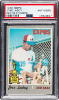 Baseball Cards:Singles (1970-Now), 1970 Topps Test Cloth Stickers Jose Laboy PSA Authentic - The Onlyexample on the PSA & SGC Combined Census! ...