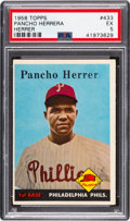 "Baseball Cards:Singles (1950-1959), 1958 Topps Pancho Herrera (Missing ""a"") #433 PSA EX 5...."