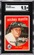 Baseball Cards:Singles (1950-1959), 1959 Topps Mickey Mantle #10 SGC Mint+ 9.5 - The Reigning SGCChampion! ...