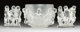 Lalique Glass Luxembourg Bowl and Pair of Table Ornaments Post-1945. Engraved Lalique, France Ht. 8-1/2 in... (Total: 3...