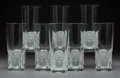 Art Glass:Lalique, Eight Lalique Clear and Frosted Crystal Khepri PatternHighball Tumblers. Post-1945. Engraved Lalique, Fra...(Total: 8 Items)