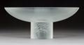 Art Glass:Lalique, Limited Edition Lalique Clear and Frosted Glass Memphis Center Bowl with Original Box. Post-1945. Engraved Lal...