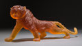 Art Glass:Daum, Large Limited Edition Daum Amber Glass Tigre du BengaleMagnum Tiger with Original Box. Early 21st century. Engr...