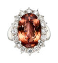 Estate Jewelry:Rings, Topaz, Diamond, Platinum Ring The ring feature...