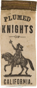"Political:Ribbons & Badges, James G. Blaine: Rare ""Plumed Knight"" Ribbon from California...."