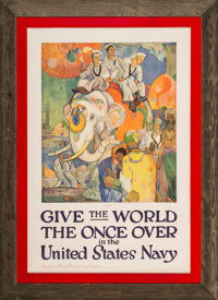 Five American Navy Recruitment Posters, c. 1920 Lithographs in colors on paper 39 x 25 inches (99.1 x 63.5 cm)