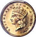 Proof Gold Dollars, 1877 G$1 PR62 Cameo PCGS Secure....