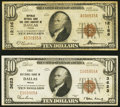 National Bank Notes:Texas, Dallas, TX - $10 1929 Ty. 1 First NB Ch. # 3623; $10 1929 Ty. 1 Republic NB & TC Ch. # 12186. ... (Total: 2 notes)