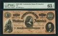 Confederate Notes:1864 Issues, T65 $100 1864 PF-3 Cr. 494 PMG Gem Uncirculated 65 EPQ.. ...