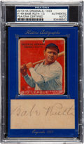 Autographs:Sports Cards, 2013 Historic Autographs 1933 Goudey Babe Ruth #149 With Cut Signature PSA/DNA Authentic Auto. ...