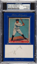 Autographs:Index Cards, 2013 Historic Autographs 1933 Goudey Lou Gehrig #92 With CutSignature PSA/DNA Authentic Auto. ...