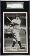 Baseball Cards:Singles (Pre-1930), 1929-30 R315 Anonymous Babe Ruth SGC 86 NM+ 7.5. T...