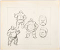 Animation Art:Concept Art, John Buscema Spider-Man The Blob Sketches Original Art (Marvel Productions, 1981)....