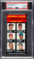Baseball Cards:Singles (1960-1969), 1968 Topps Plaks Clemente/Mays/Aaron (Checklist #2) PSA VG-EX 4(MC)....