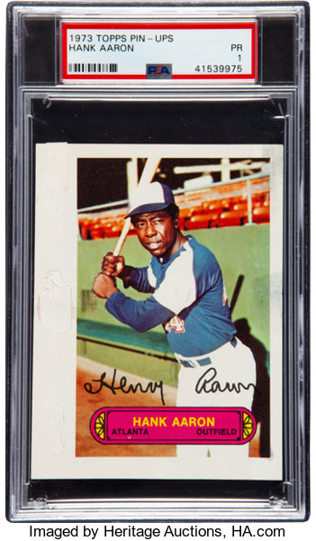 1973 Topps Pin Ups Hank Aaron Psa Poor 1 Baseball Cards