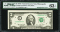 Error Notes:Miscellaneous Errors, Misalignment Error Fr. 1935-I $2 1976 Federal Reserve Note. PMGChoice Uncirculated 63 EPQ.. ...