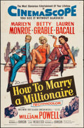 "Movie Posters:Comedy, How to Marry a Millionaire (20th Century Fox, 1953). One Sheet (27""X 41""). Comedy.. ..."