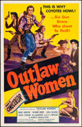 "Movie Posters:Western, Outlaw Women (Howco, R-1956). One Sheet (27"" X 41""). Western.. ..."