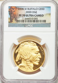 2008-W $50 One-Ounce Gold Buffalo PR70 Ultra Cameo NGC....(PCGS# 393329)