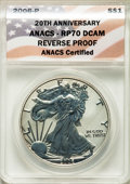 2006-W $1 Silver Eagle, 20th Anniversary, SP70 ANACS. This lot will also include the following: 2006-W $1 Silver Eagle...