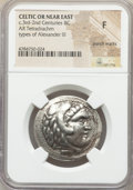 Ancients:Celtic, Ancients: CELTIC OR NEAR EAST. ca. 3rd-2nd Centuries BC. ARtetradrachm (30mm, 11h). NGC Fine, punch marks....